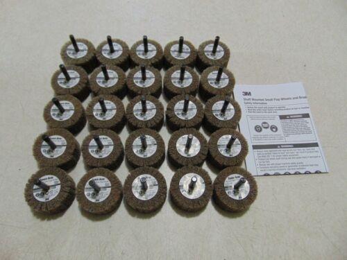 """25 Pack 3M Scotch Brite Cut And Polish Flap Brushes 2/""""x1/"""" Aluminum Oxide 80 Grit"""