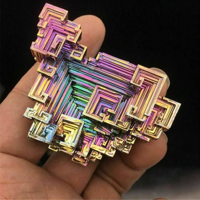 Top Natural Quartz Crystal Rainbow Titanium Cluster VUG Mineral Specimen Healing
