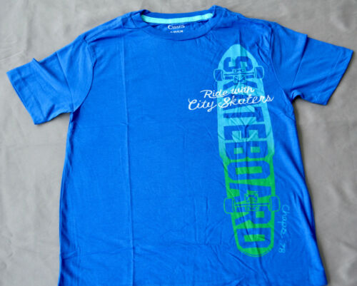 SIZES BLUE 5,10-12 /& 18-20 YEARS Chaps Boys Printed T Shirt NEW