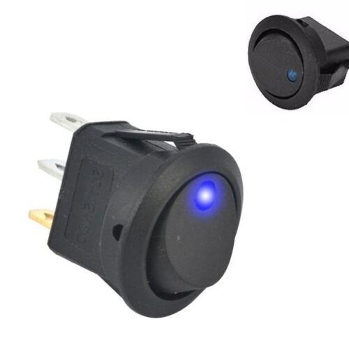 S288-5 Stück Schalter Wippenschalter EIN//AUS beleuchtet blau 12V bis 16V LED