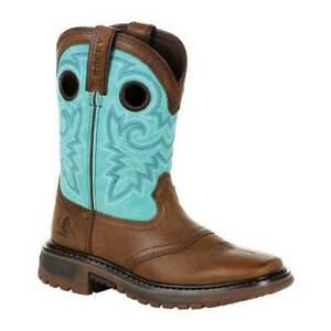 Rocky-Unisex-Children-039-s-8-034-Ride-FLX-Western-Boot-RKW0299C-Little-Kid-Saddle