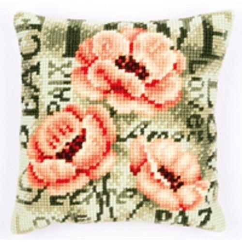 Poppy flower-vervaco gros trous tapisserie coussin kit-PN-0144839