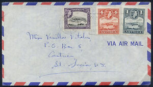 BRITISH-ANTIGUA-TO-ST-LUCIA-Old-Air-Mail-Cover-VERY-NICE