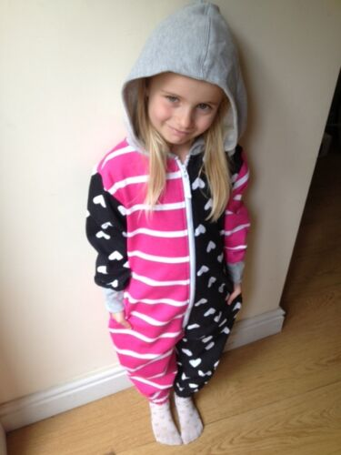 NEW GIRL/'S WOMAN/'S LADIES KIDS 80/% COTTON PLAYSUIT ALL IN ONE WARM PYJAMA ONESEE