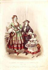 GRAVURE de MODE ANCIENNE-485-1857-Z261-JOURNAL des DAMES et DEMOISELLES