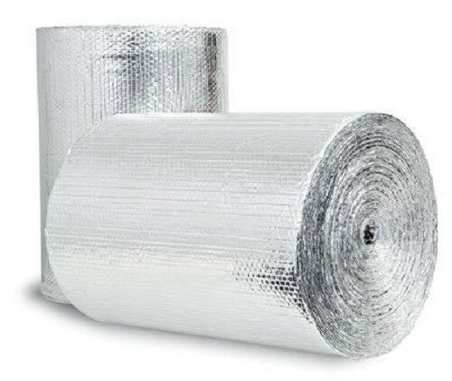 DD24250 Air Double Reflective Polyethylene Insulation Roll, 4-Feet by 250-Feet