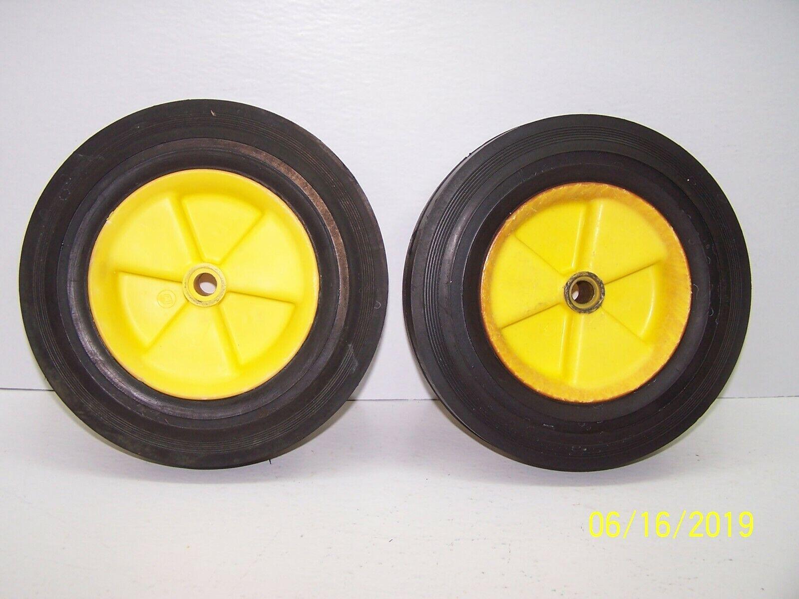 Lawn Boy R7070 Push Mower Rear Set Of Gelb Wheels With New Tires