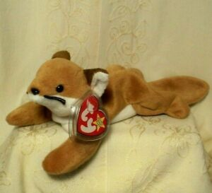 "Ty Original Beanie Babies Sly Fox Brown 4"" Beanbag Plush Toy Retired 1996 Rare"