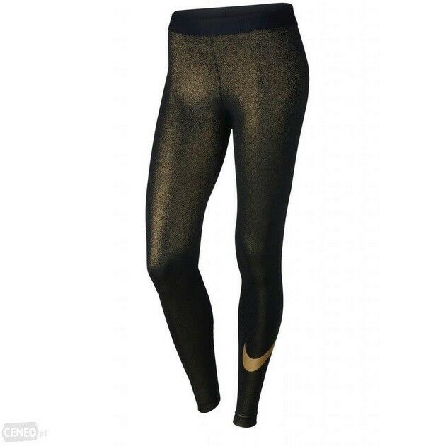 07d4c564f16bf XS Women's Nike Pro Cool Metallic Gold Training Tights Black/gold 881778  010 for sale online | eBay