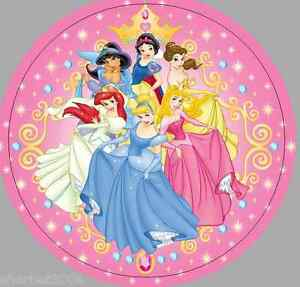 24 X 40mm Round Stickers Not Personalised Disney Princess