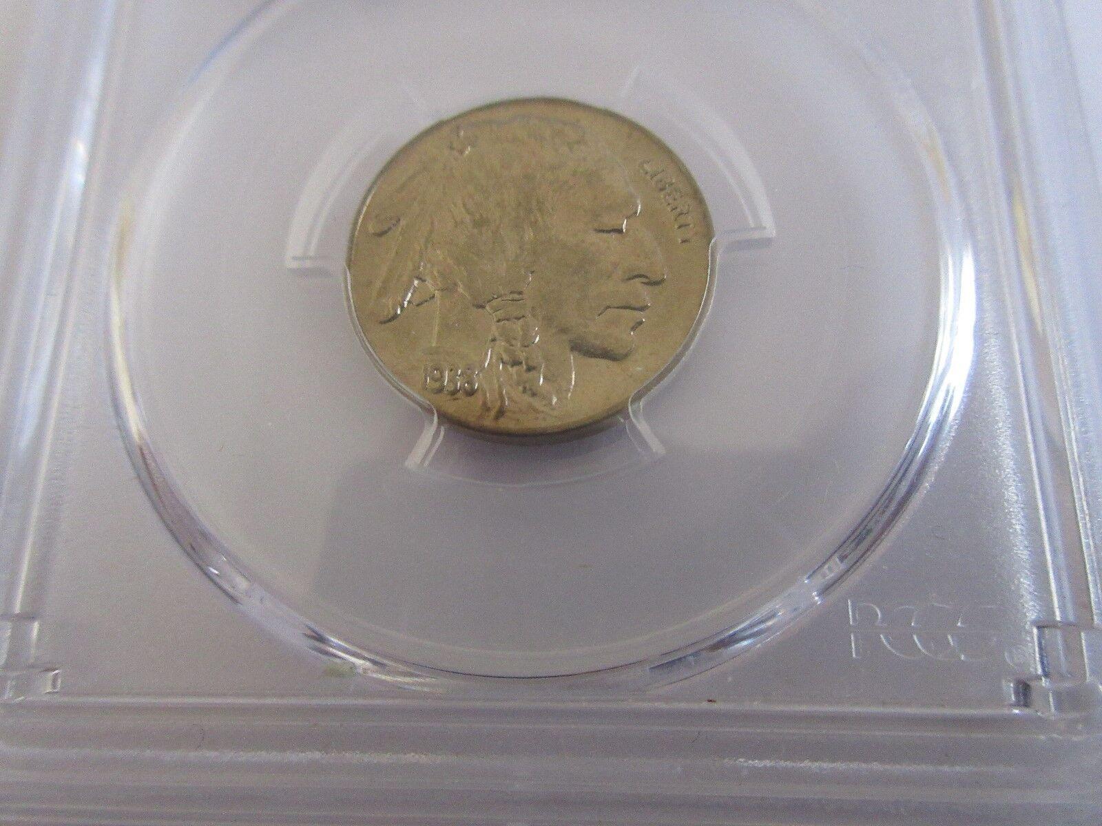 1938-D/D Buffalo 5 Cents PCGS MS 67