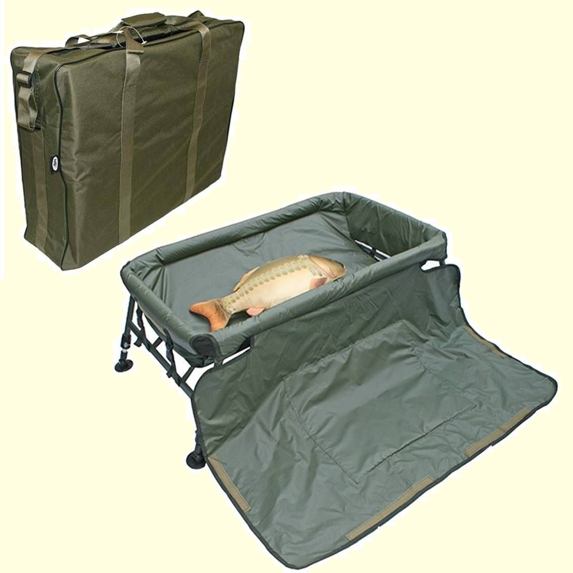 Carp Fishing Cradle Unhooking Mat Folding Sturdy Deluxe Supplied with Carry Bag