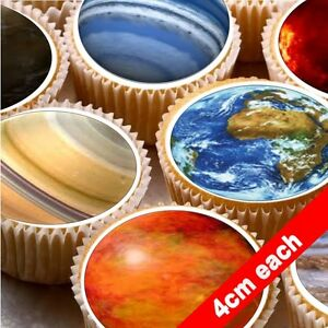 24-Cake-topper-decorations-icing-wafer-Solar-System-planets-space-moon