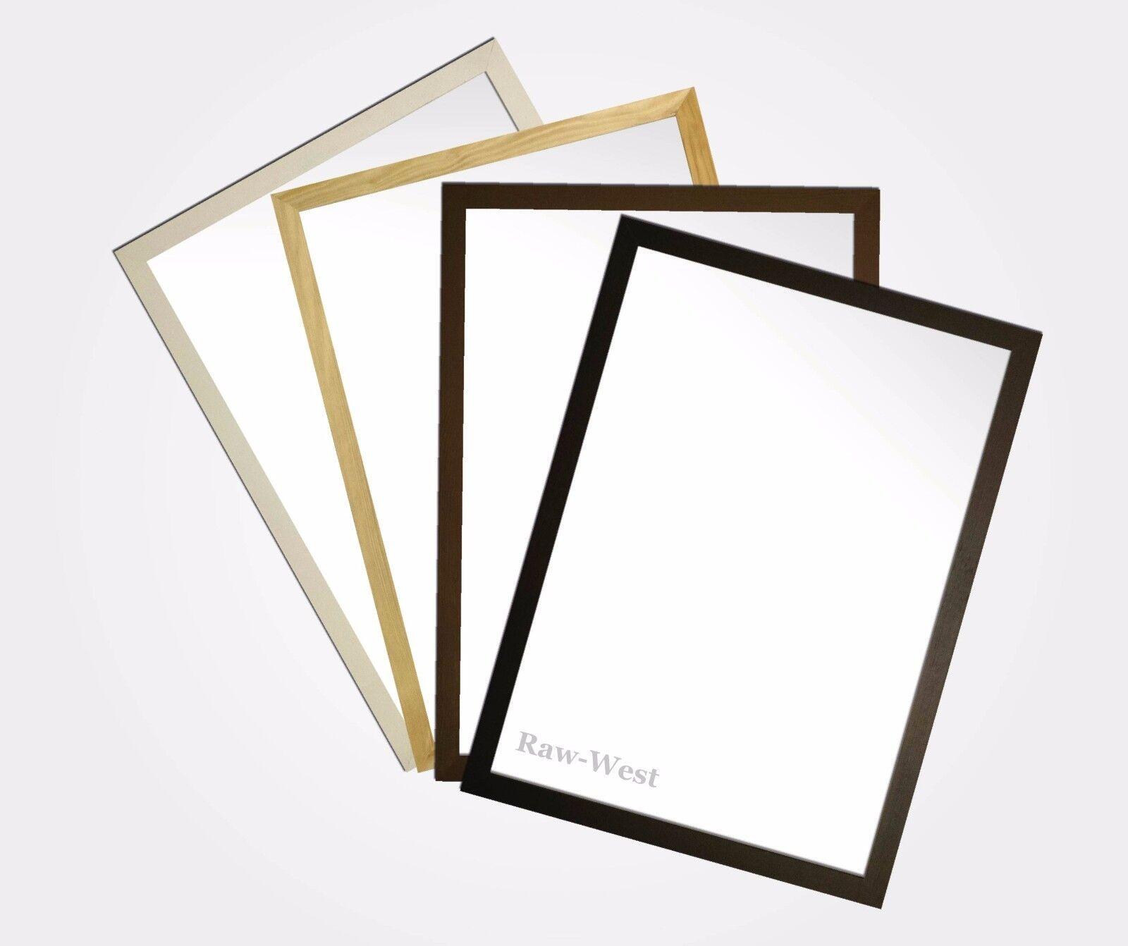 Bilderrahmen aus Holz von 10x15 bis 15x21cm Schwarz, Weiß ,Kiefer ...