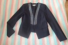 Michael Kors  BLAZER jacket, Sz 8,BLACK STUDS AD