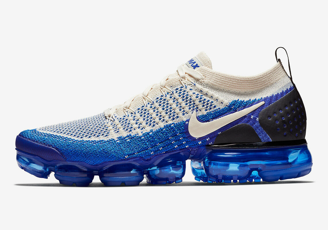 Brand New Nike Air VaporMax Flyknit 2 Racer Blue Fashion Sneakers [942842 204]
