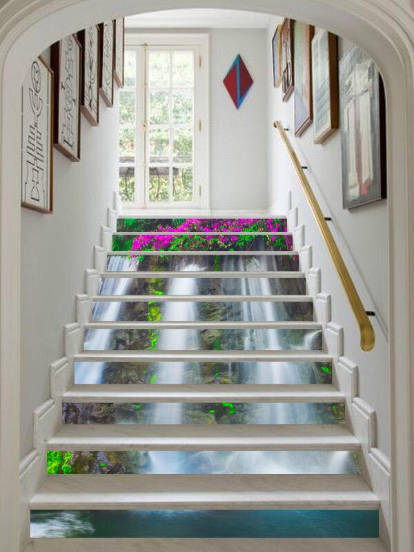 3D Blaume Strom 678 Stair Risers Dekoration Fototapete Vinyl Aufkleber Tapete DE