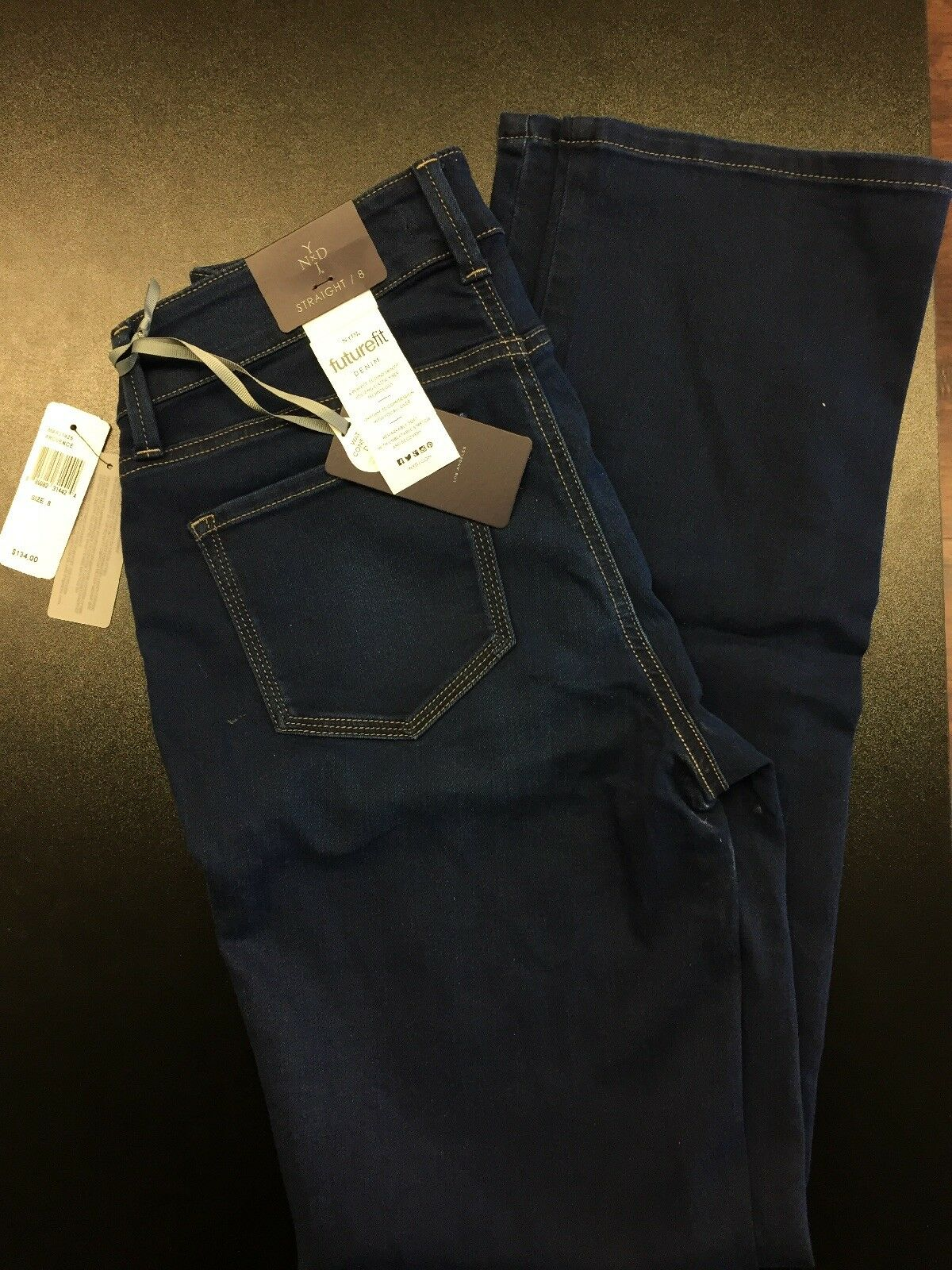 NYDJ Womens Collection MARJ1425 Marilyn Straight Jeans Future Fit FREE SHIPPING