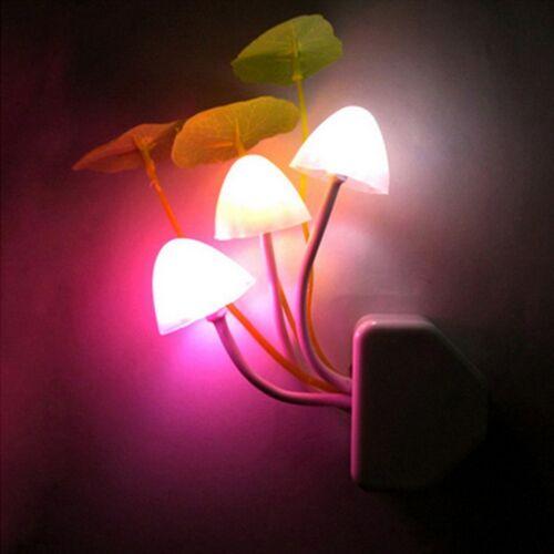 Romantic Lights Decoration Mushroom Light Colorful LED Lamp Sensor Control