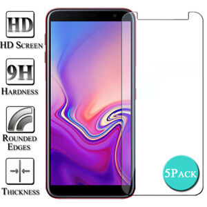 5X-Tempered-Glass-Screen-Protector-Cover-For-Samsung-Galaxy-J3-J4-J5-J6-J7-J8-CA