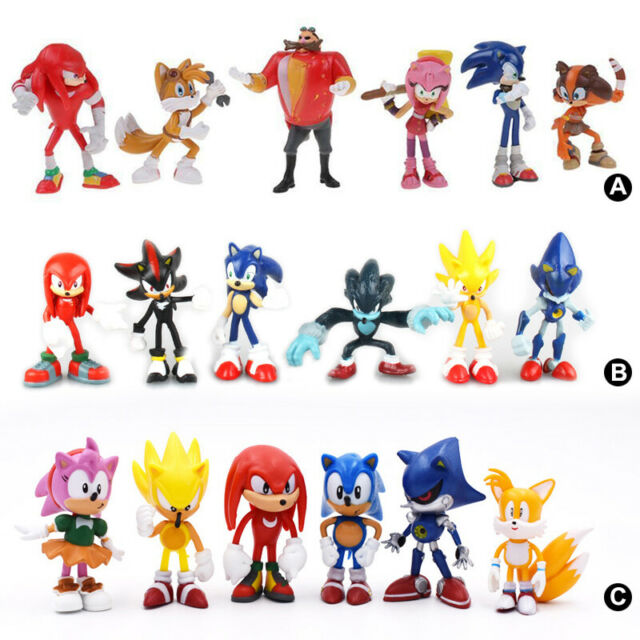 "Sonic PVC action Figure Set Toy 2.4/"" 6 PCS For Kids Gift Fans Collection"