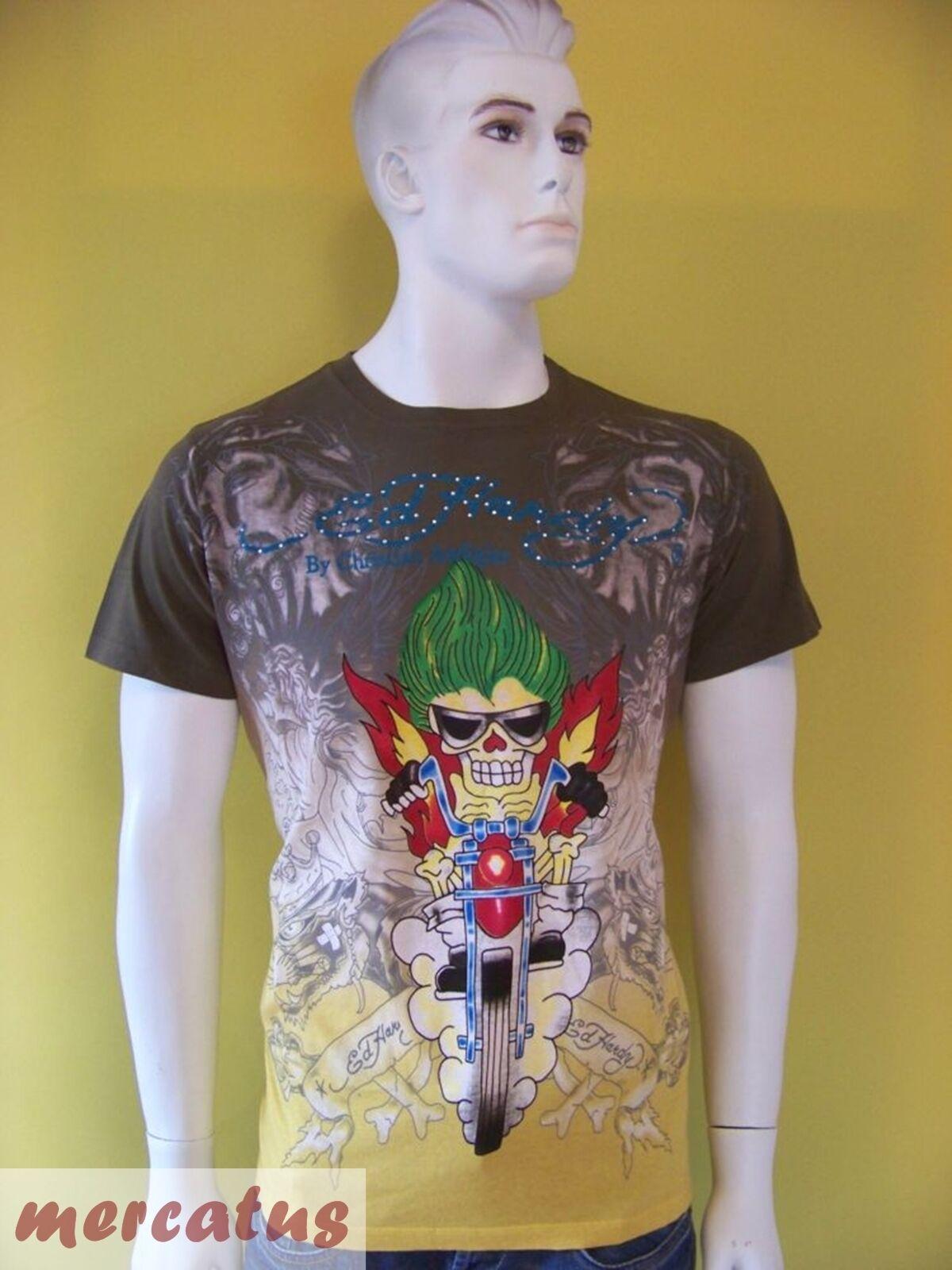 Designer T-Shirt Ed Hardy Bikerskull Strass