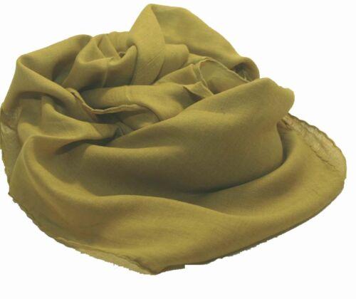 Halstuch Tuch Cotton Baumwolle uni einfarbig CURRYGELB ca 95 x 95 cm