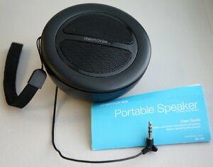 Memorex-ML100-Portable-Mini-Speaker-w-Universal-Headphone-Line-In-Jack
