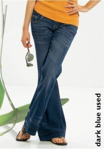 Arizona Jeans Tg 32-34 NUOVI PANTALONI DA DONNA BOOTCUT STRETCH AJC dark blu used l32