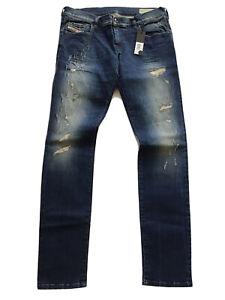 $278 Diesel Damen Grupee Super Slim Skinny Jeans Destroy-Reparatur ri141 Größe w30