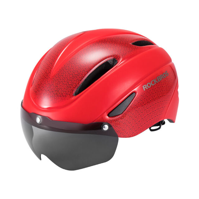 RockBros Red Cycling Riding Sport Bike Helmet with Magnetic Goggle Size 57-62cm