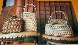 Rare-Rattan-Tote-Bag-book-Craft-book-from-Japan-Japanese-basket-0743
