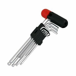 Ball-Hex-Key-Set-Allen-Keys-9-Piece-Ball-End-Metric-1-5-10mm-With-Handle