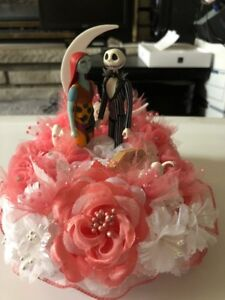 Christmas Wedding Cake Toppers.Details About Jack Sally Nightmare Before Christmas Wedding Cake Topper One Of A Kind 6
