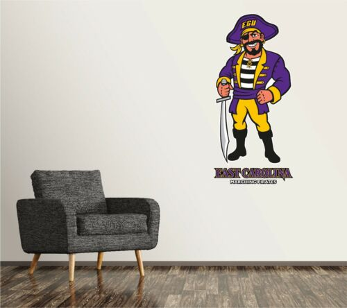 East Carolina Pirates Wall Decal Logo College NCAA Art Sticker Vinyl LARGE SR155