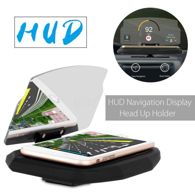 Universal 6.5'' Car HUD Head Up Navigation Display Phone Holder Stand Projector