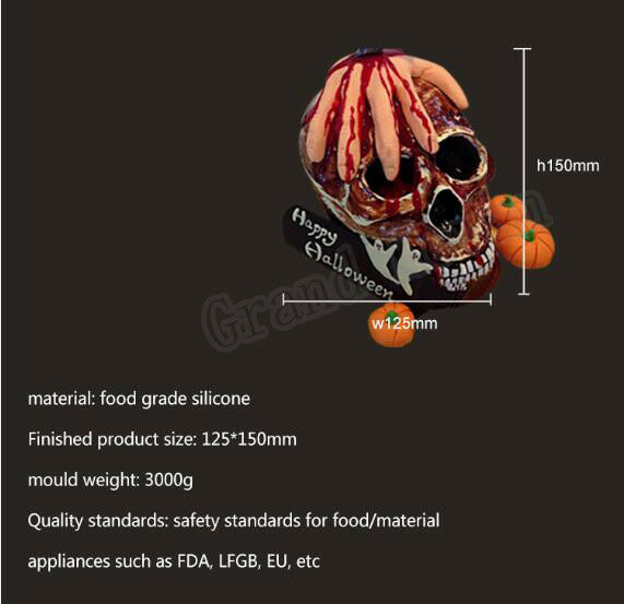 Silicone Resin Skull Mould Silicone Chocolate Skull Mold Silicone Plaster Mold