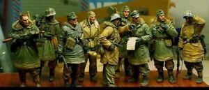 1-35-Scale-WWII-German-Soldiers-WW2-Figures-Resin-Model-Kit-9-Figures