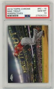 Mike-Trout-Los-Angeles-Angels-2016-Topps-Chrome-Perspectives-PC-16-Card-PSA-10