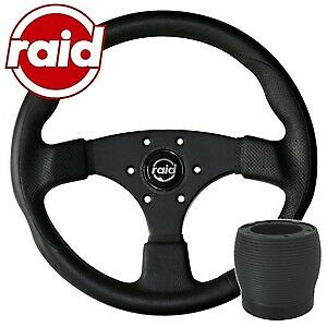raid Sportlenkrad mit Nabe - 340 mm - BLACK EDITION - Audi 100/200/A6/V8