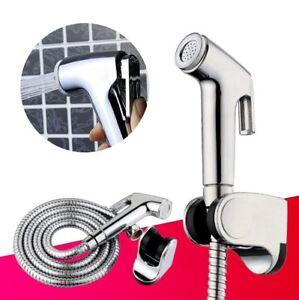 Bidet-Shattaf-Douche-Spray-Chrome-Hygienic-Toilet-Shower-Head-Hose-Set
