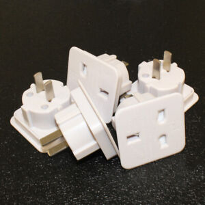 Lot-de-5-uk-3PIN-to-USA-2PIN-Adaptateur-De-Voyage-Usa-Australie-NZ-Canada-Caraibes