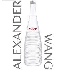 (4) ALEXANDER WANG EVIAN Limited Edition Glass Water Bottle Lot 750ml 2016