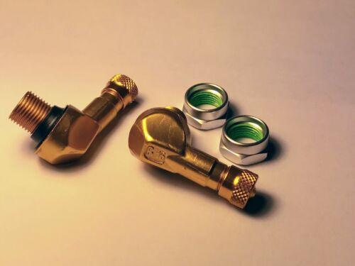 GOLD Ariete Bridgeport 90//83 degree angled valve stem SET NEW IMPORTED ITALIAN