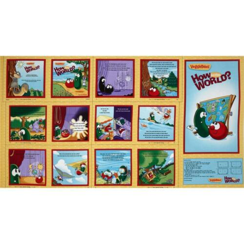 Veggie Tales Who in the World Soft Book Panel to make  ~ Quilting Treasurers