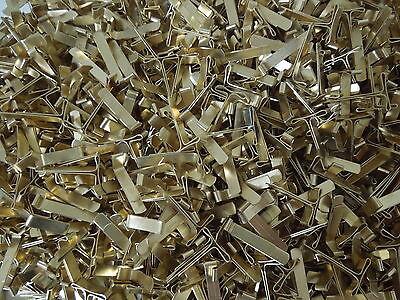 Effizient 100 Flachkopfklammern 21/23mm Versandtaschenklammern Versandklemmen Flachkopf