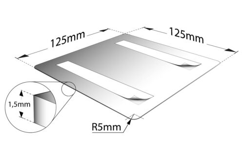 "Aluminium Schild /""WC links/"" 125 x 125 mm • Toilette • Türschild Toilettenschild"