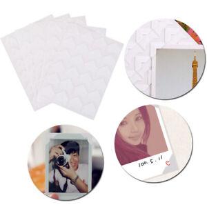 5 Blatt Selbstklebendes Fotoalbum Rahmen Eckaufkleber Wohnkultur Handwerk Weiß