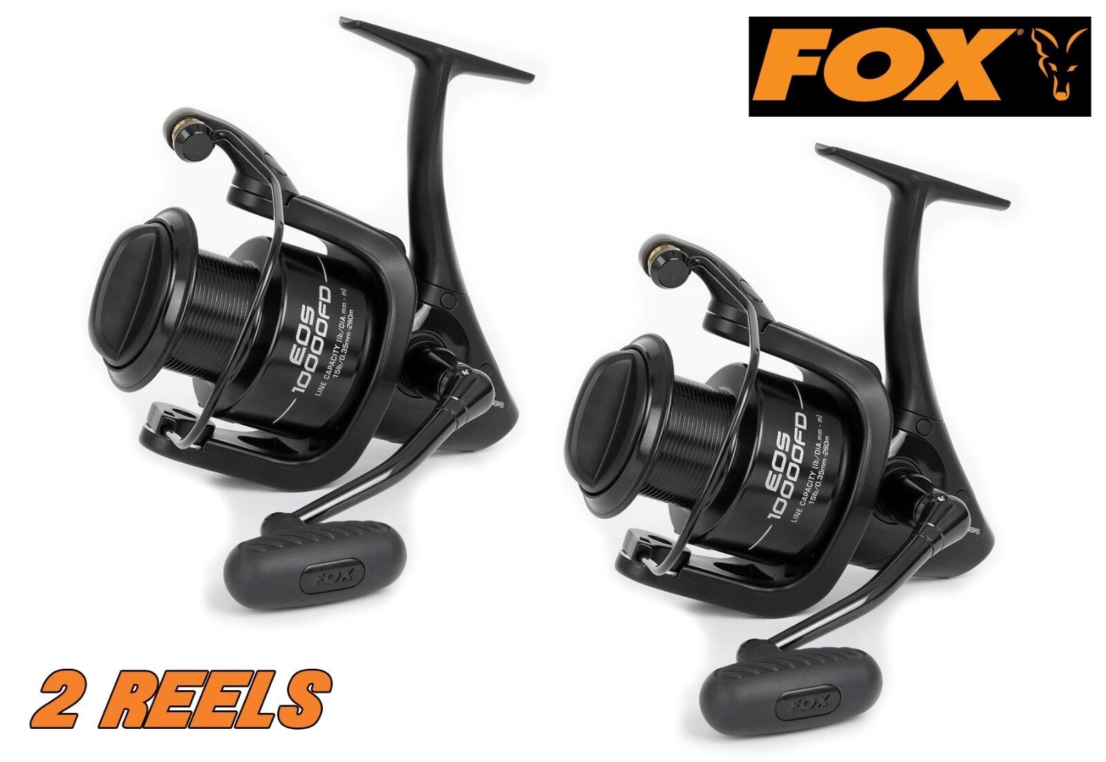 Fox EOS 10000FD Reel x 2 - CRL079. Front Drag. BRAND NEW + FREE P&P