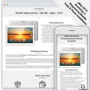 eBay Template MINIMALIST DROPSHIPING Auktion Vorlage/Design - Bootstrap - 2021